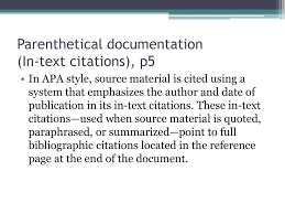 Ppt Apa Parenthetical Documentation And Reference Page Powerpoint