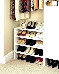 in angled shoe shelves closetmaid storage stackable rack cube shoe storage unit mini organizer