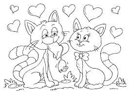 Gatto E Gatta Innamorati Disegno Da Colorare Disegni Da Colorare