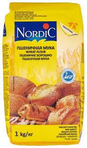 Купить <b>Мука Nordic пшеничная</b> высший сорт 1 кг по низкой цене с ...
