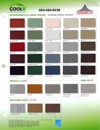 Sheffield Color Chart Quality Metal Roofing 303 420 8538