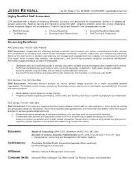 Sample Accounting Resume Interesting Staff Accountant Resume Example