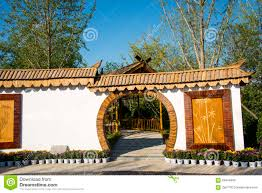 Decorating circular door images : Asia China, Wuqing Tianjin, Green Expo, Landscape Architecture ...