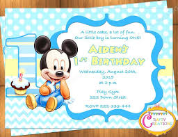 Make Your Own Mickey Mouse Invitations Baby Mickey Birthday Invitations Mickey Mouse Birthday Invitations