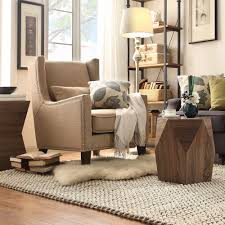 Henry Wingback Nailhead Upholstered Club Chair with Pillow by iNSPIRE Q  Classic - Free Shipping Today - Overstock.com - 16989622