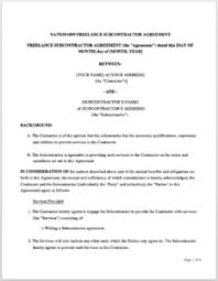 Subcontractor Agreement Format How To Write A Subcontractor Agreement 7 Downloadable Templates