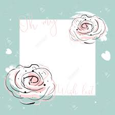 Girly Designs Oh My Wish List Cute Girly Template Vector Floral Design Pastel