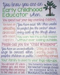 Childcare Quotes New You Know You Are An Early Childhood Educator When Early