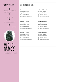 Reference List For Resume Template Resume Template Professional Microsoft Word Creative