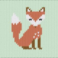 Fox Knitting Chart