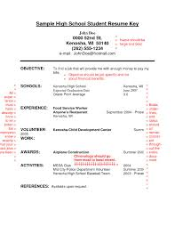 High School Student Resume Format Cool Job Examples For Highschool