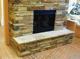 image of stone electric fireplace media