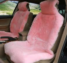 name universal kq02 australia real sheepskin car seat cover sheep wool auto cushion 4pcs sets pink