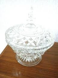 crystal candy dish vintage cut glass