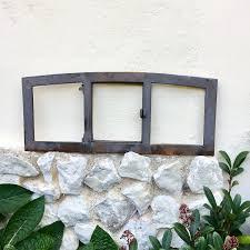 Antikas Langes Schmales Scheunenfenster Mit Klappe Eisenfenster