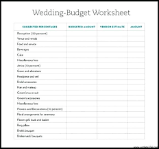 Sample Wedding Budget Template Excel Format Detailed