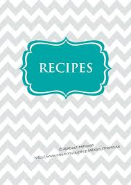 Binder Cover Page Template Word Recipe Book Front Design Newbloc