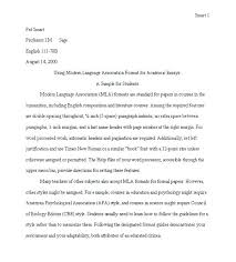 Mla Proper Heading Mla Formatting For Essays Essays Examples 8 Argumentative Essay