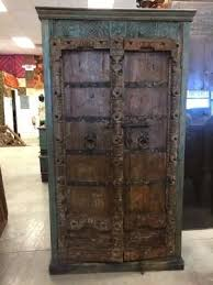 antique armoire haveli furniture vine indian cabinet meval castle old door ebay by era