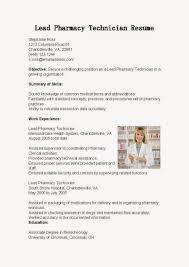 Resume Examples For Pharmacy Technician Pharmacy Technician Resume Template Resume And Cover Letter 19