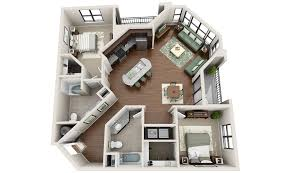 Loft Apartment Floor Plans Inspiration   Sq Ft Urban Studio - Studio apartment floor plans 3d