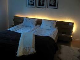 led lights behind ikea malm bed awesome bedroom headboard lighting