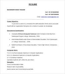 Sample Resume Format Download 100 Images Free Professional