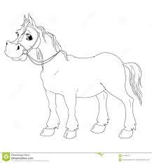Cavallo Divertente Del Personaggio Dei Cartoni Animati Libro Da