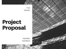 Project Proposal Presentation Black And White Minimalist Project Proposal Presentation