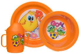 <b>Cosmoplast</b> Набор <b>детской</b> посуды Baby Tris Set Цыпленок 3 ...
