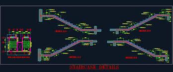 Rcc Building Design Software Free Download R C C Staircase Structure Detail Autocad Dwg Plan N Design