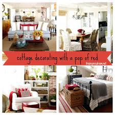 red accent decor decorating with a pop of cottage the inspired room  decorations