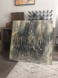 canvas wall art vintage chandelier with frame for in los angeles ca