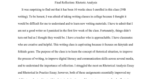final reflection essay google docs