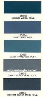 66 Mustang Color Chart 1966 Mustang Convertible Interior Paint Codes