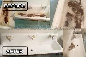 Bathtub Reglazing Los Angeles - Reglaze kitchen sink