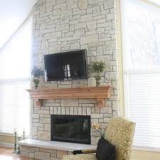 cobble stone fireplace refined and elegant
