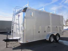 Cabinets For Cargo Trailers 7 X 16 10k Contractor Trailer W Tool Storage Cabinets Ladder