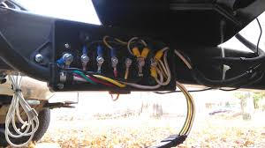 x cargo to rv conversion  heres the inside 12v lead s revised abit comes in lower about 20 for a bluesea 12v fuse block then goes upto 50 for a 12v switch for the waterpump