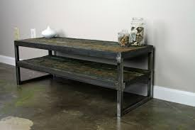 metal industrial furniture. Awesome Industrial Tv Stand For Your Living Room Decor: Rustic Reclaimed Wood And Metal Furniture