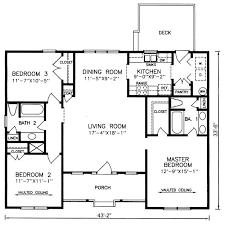One Level Floor Plans 3 Bed  Floor Plan 1344 Sqft 28u0027x48u0027  Home Open Floor Plans For One Story Homes
