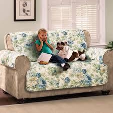 English Floral Sky Blue Quilted Furniture Protectors & English Floral Furniture Protector Cover Chair Adamdwight.com
