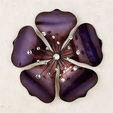 shimmering gem purple flower wall art on metal flower wall art purple with shimmering gem purple flower metal wall art
