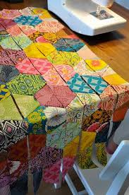 30 best Hexagon Quilts images on Pinterest | Books, Colors and ... & Half Hexagons Quilt Adamdwight.com