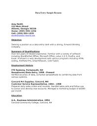 Sample Resume Of Data Entry Clerk Data Entry Clerk Resume Example