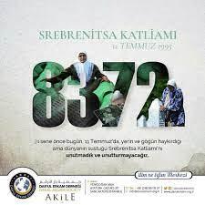 Darul Erkam Derneği - 24 Sene önce bugün, 11 Temmuz'da yerin ve göğün  haykırdığı ama dünyanın sustuğu #Srebrenitsa Katliamı'nı unutmadık ve  unutturmayacağız. Dar'ul Erkam Derneği   www.darulerkam.org.tr   0216 561  15 37   Facebook
