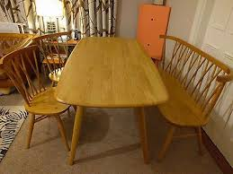 ercol for john lewis chiltern bench table chairs dining set in light oak