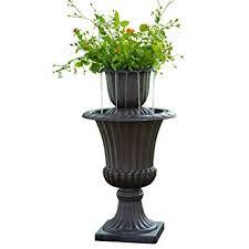 "Peaktop Urn Flower Pot Water Fountain, 16.1"" ..."