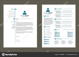 cv resume simple tag clean blue template vector stock vector cv resume simple tag clean blue template vector stock illustration