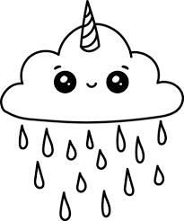 Disegno Di Nuvola Unicorno Kawaii Da Colorare Disegni Da Colorare